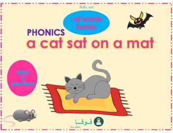 A Cat Sat on a Mat - Phonics Story