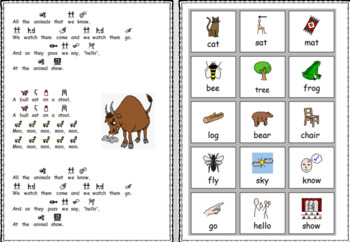 A Cat Sat on a Mat Poem with Symbols