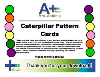 A+ Caterpillar Pattern Cards