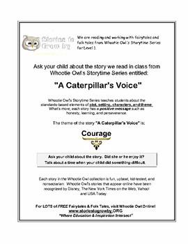 A Caterpillar's Voice Short Story Fairy Tale Unit