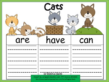 A+ Cats:  Graphic Organizers