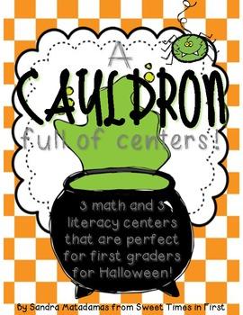 A Cauldron Full of Centers {Halloween Math & Literacy Cent