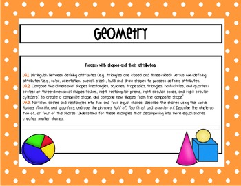 A Center for EVERY 1st Grade Geometry Standard