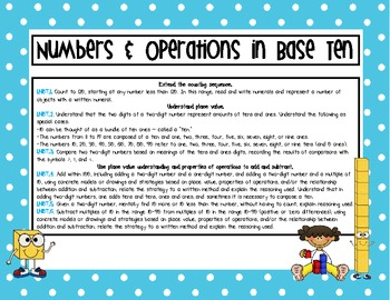 A Center for EVERY 1st Grade Numbers & Operations in Base 10 Standard