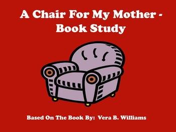 A Chair For My Mother - Story Map and Comprehension Questions