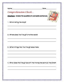 A Chair for My Mother {Comprehension and Written Response Activities}