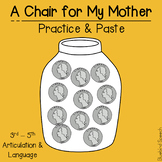 A Chair for My Mother: Practice & Paste Speech Companion | Mixed Group | 3 - 5