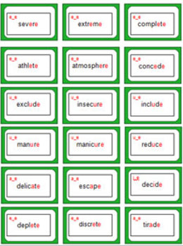 BOSSY E\' - A Challenging Split Digraphs (bossy E) Phonics Card Game