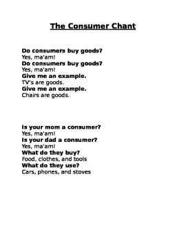 A Chant About Consumers