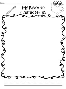 A+  Character Drawing Paper: My Favorite Character Is...
