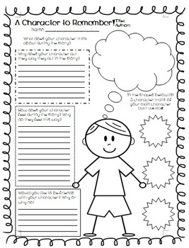 A Character to Remember! Common Core Book Review Freebie