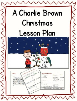 A Charlie Brown Christmas Lesson Plan by Walton Burns | TpT
