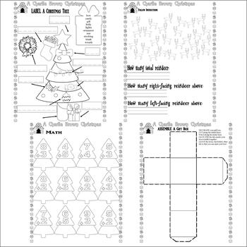 A Charlie Brown Christmas Activity Worksheets 7pg : Spelling, Sequencing & Fun!
