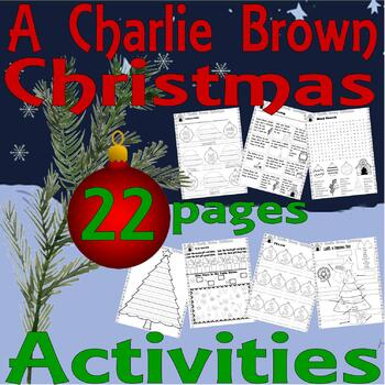 A Charlie Brown Christmas Activity 11 Worksheets Spelling Sequencing Word Search