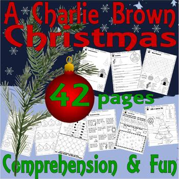 A Charlie Brown Christmas Book.A Charlie Brown Christmas Reading Comprehension Book Companion Activity 25p Pack