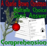 A Charlie Brown Christmas Reading Comprehension : Multiple Choice & Lined Paper