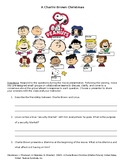 A Charlie Brown Christmas Movie Activity