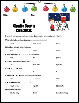 A Charlie Brown Christmas Video Guide Questions