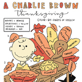 A Charlie Brown Thanksgiving Color-by-Parts-of-Speech Activity