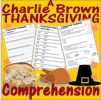 A Charlie Brown Thanksgiving : Comprehension : Multiple Choice & Answers