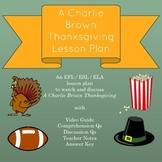 A Charlie Brown Thanksgiving Lesson Plan