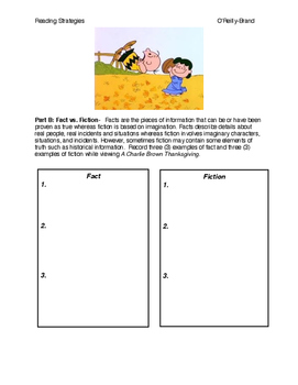 A Charlie Brown Thanksgiving - Reading Activities