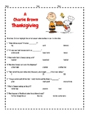 A Charlie Brown Thanksgiving Video Guide Questions-FUN!!