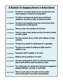 A Checklist to Improve Parent Engagement at School Events