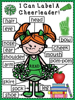 A+ Cheerleader (Girl)  Label Poster