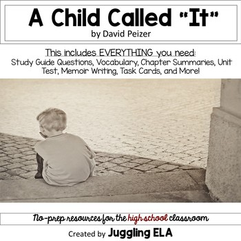 A Child Called It Teaching Resources Teachers Pay Teachers
