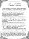 A Child's Life in Colonial America Reading Comprehension Passage and Questions