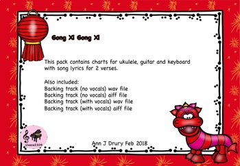 A Chinese New Year Song - Charts for Ukulele, Guitar and Keyboard