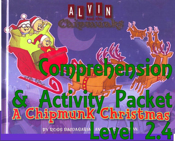 A Chipmunk Christmas Comprehension Activity Packet : Book or Cartoon Special