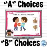 A Choice B Choice Behavior Boom Cards™ | Making Good Choices
