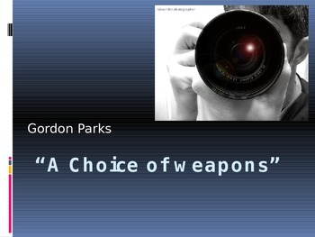 """""""A Choice of Weapons"""" PowerPoint (Nonfiction)"""