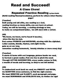 A+ Choral Reading: Read and Succeed!