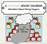 A Christmas Advent Calendar {Carryover of Articulation & Speech Fluency Skills}