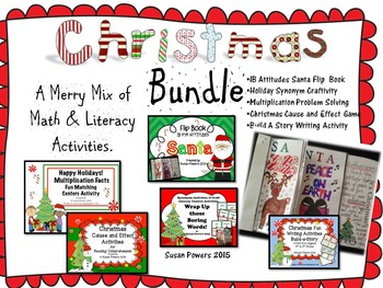 A Christmas Bundle of Math and Literacy Activities and Cra