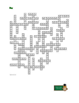 A Christmas Carol Stave 3: 50-word Prereading Xword—Great Preparation!