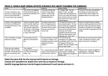 A Christmas Carol 12 page work booklet of differentiated comprehension questions