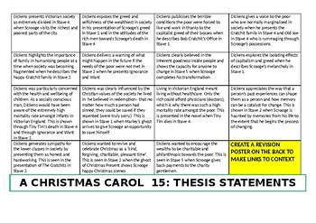 A Christmas Carol: 15 thesis statements on Dickens' purpose