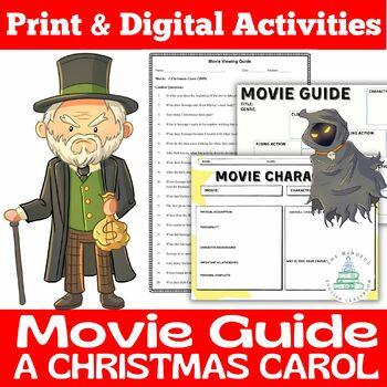 A Christmas Carol 2009 Movie Viewing Guide Digital Pdf Holiday Activity