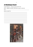 A Christmas Carol- 4 Worksheets for creative responses