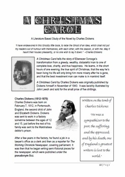 A Christmas Carol: A Literature Based Thematic Unit