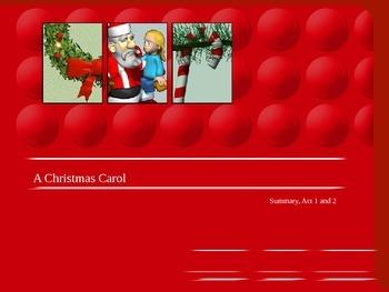 A Christmas Carol Act 1 Summary