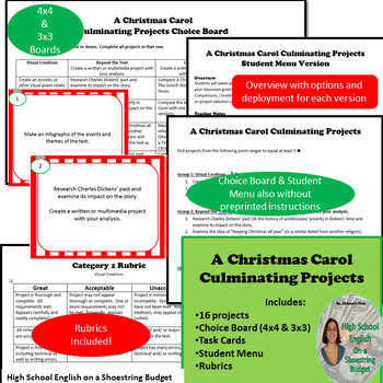 A Christmas Carol Activity Bundle (Charles Dickens)- PDF