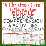 A Christmas Carol Activities Dickens BUNDLE Crossword Word
