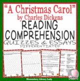 A Christmas Carol Reading Comprehension Dickens Quizzes an