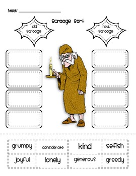 A Christmas Carol Activity Packet for Primary Grades