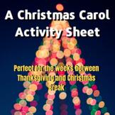 A Christmas Carol Activity Sheet